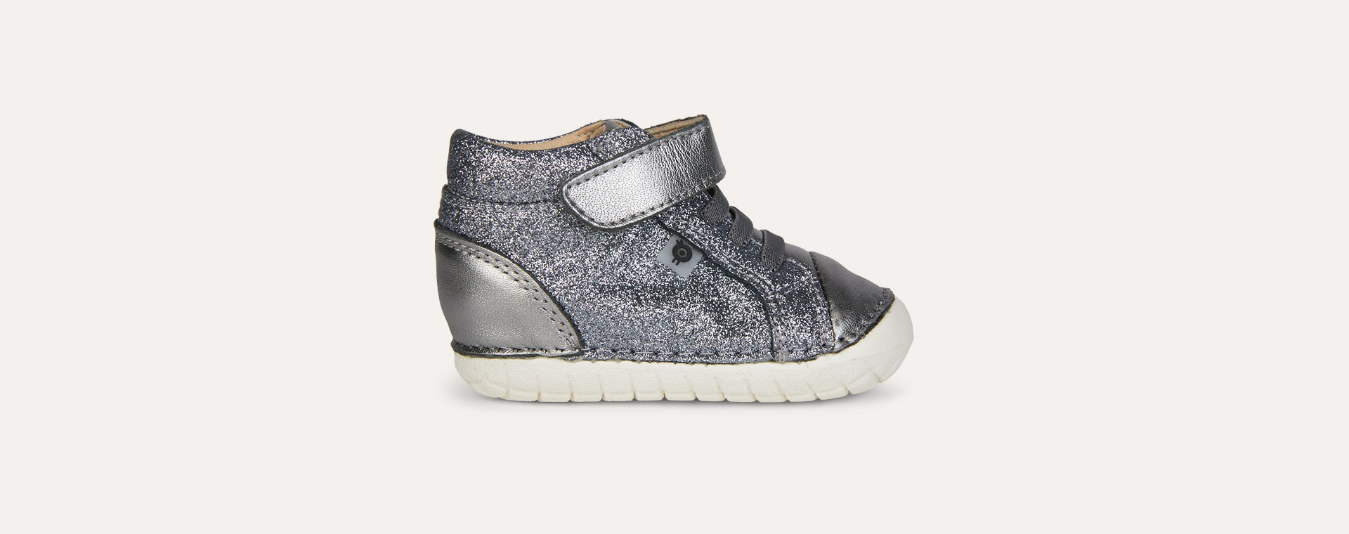 Glam Gunmetal / Rich Silver old soles Ring Pave First Boot