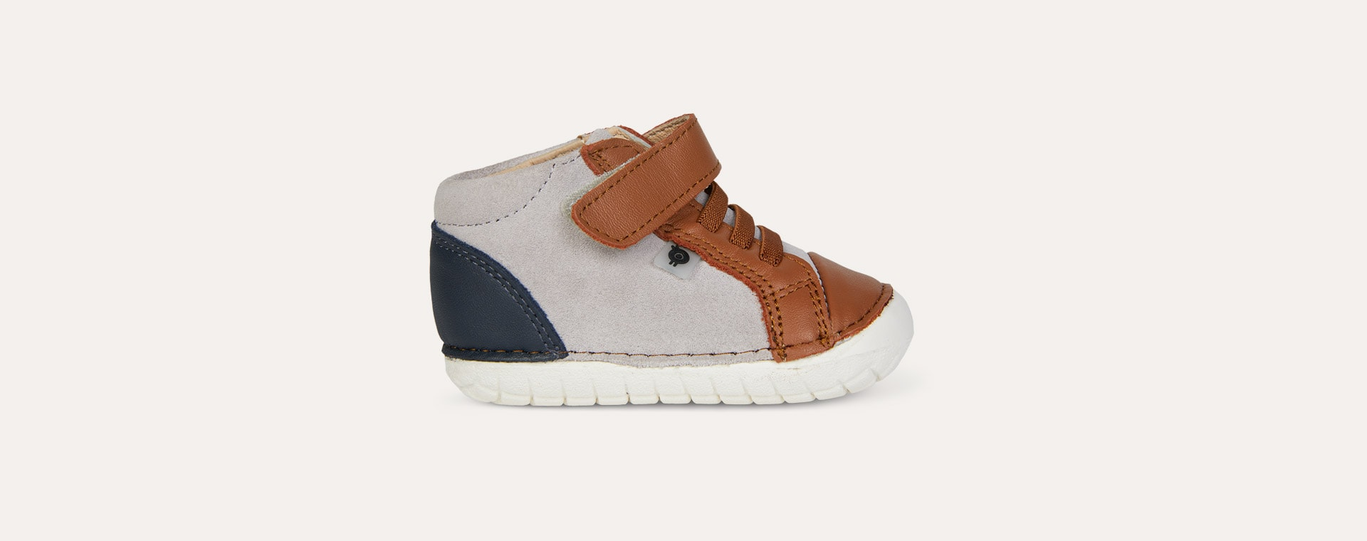 Tan/Navy/Grey Suede old soles High Pave First Trainer