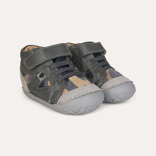 Grey/Grey Camo/ Navy old soles Pave Squad First Trainer