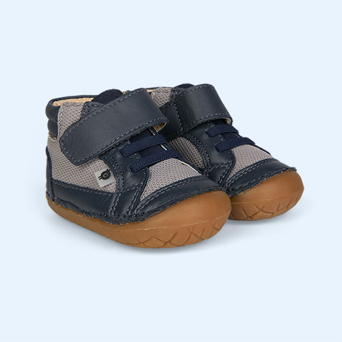 Navy/ Grey Mesh/Navy Suede old soles Timber Pave First Boot