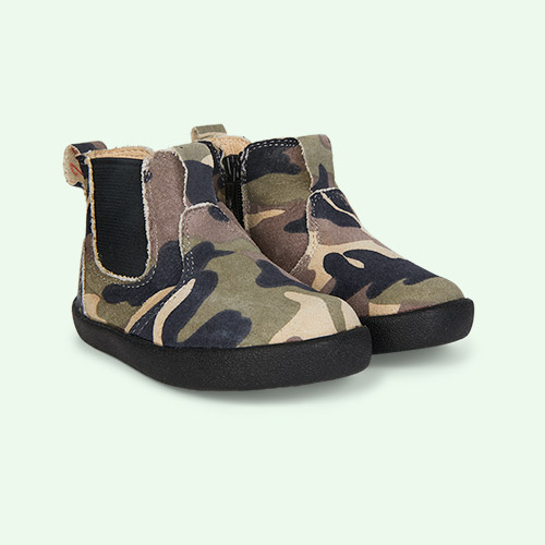 Army Camo old soles New Click Boot
