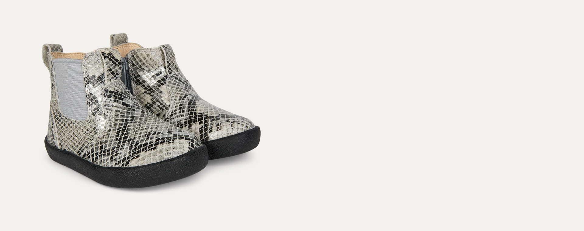 Grey Serp old soles New Click Boot