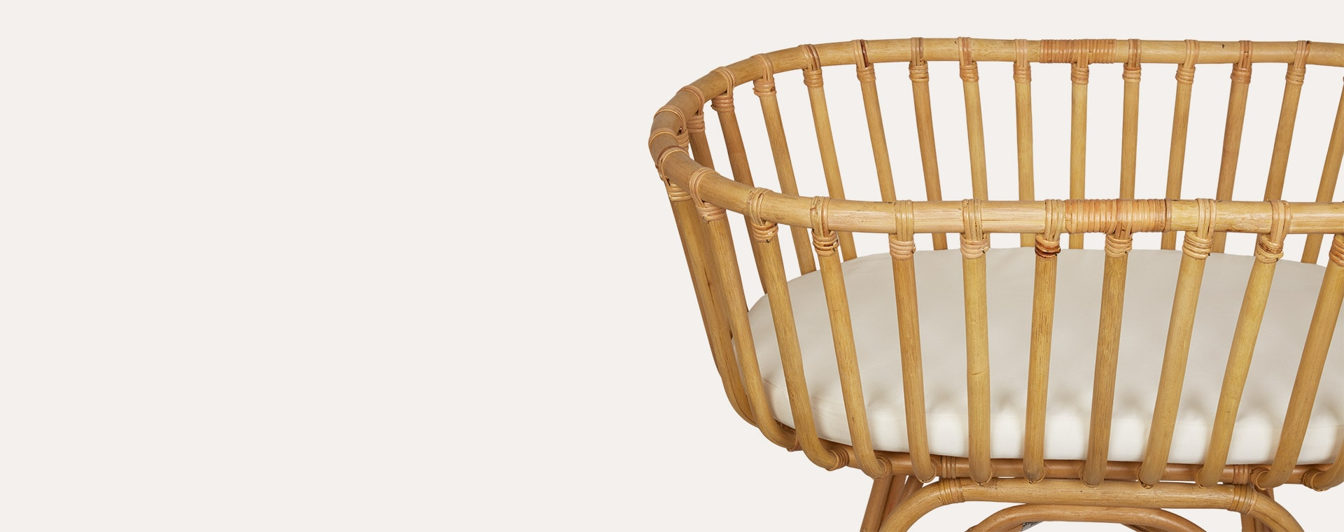 Neutral Childhome Rattan Cradle with Cover and Mattress