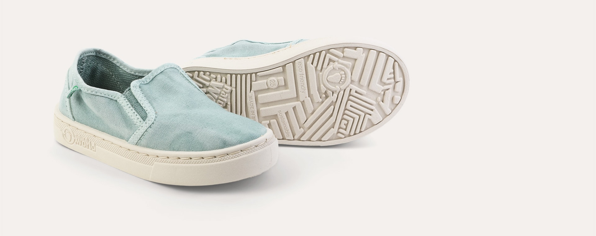 Aqua Natural World Canvas Slip-On Shoe