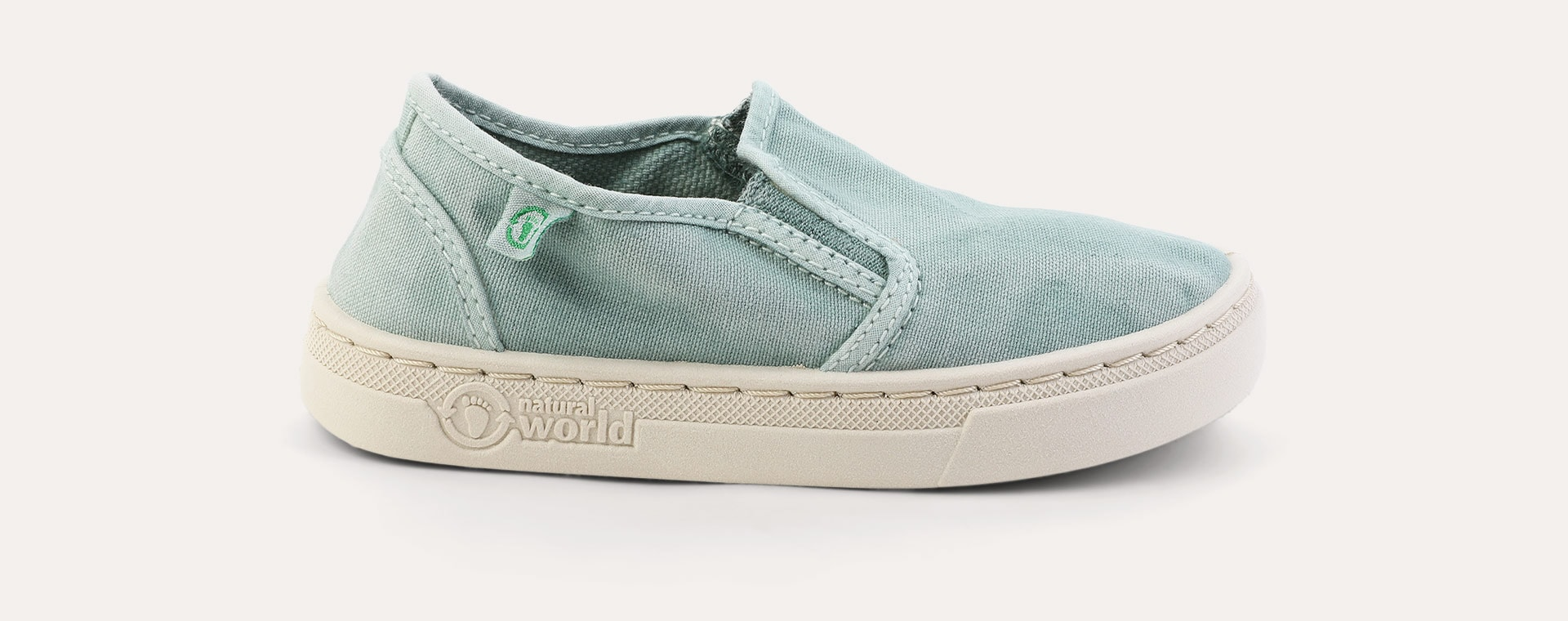 Aqua Natural World Canvas Slip-On Shoe