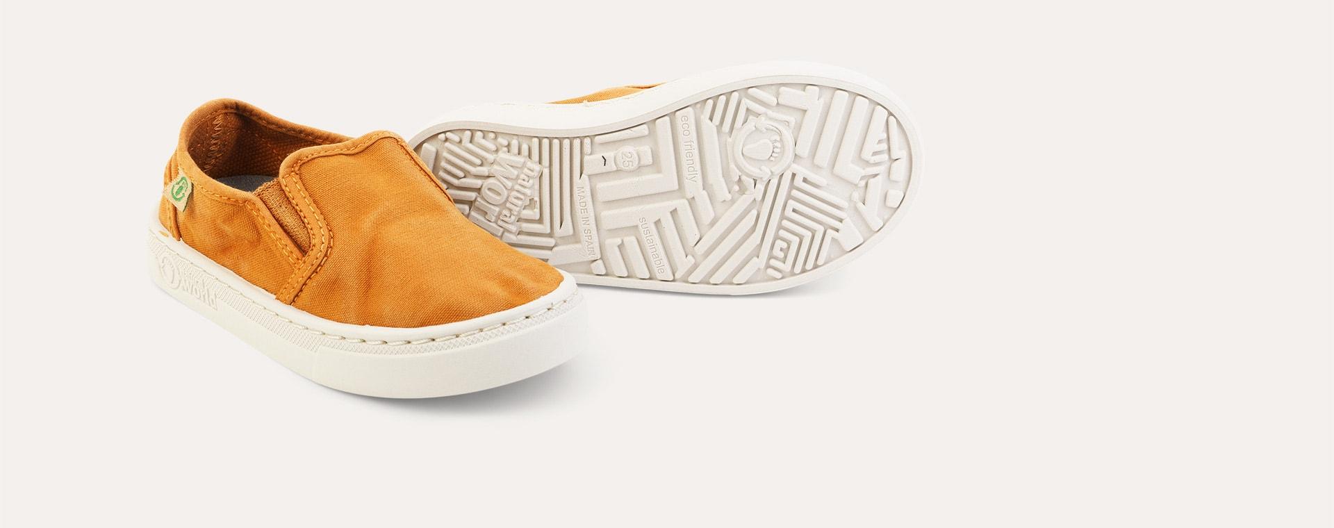 Mustard Natural World Canvas Slip-On Shoe