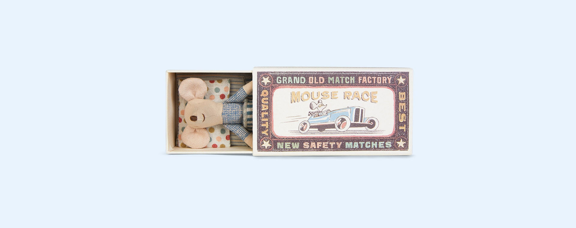 Big Brother Maileg Mouse in Matchbox