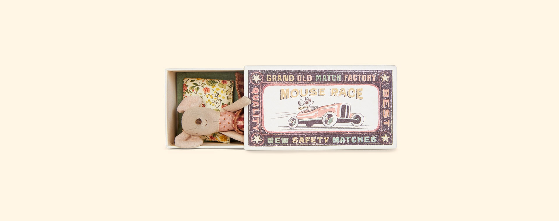 Big Sister Maileg Mouse in Matchbox