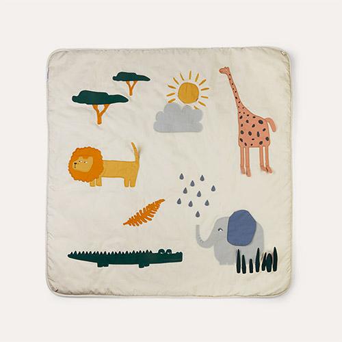 Safari sandy mix Liewood Glenn Activity Blanket
