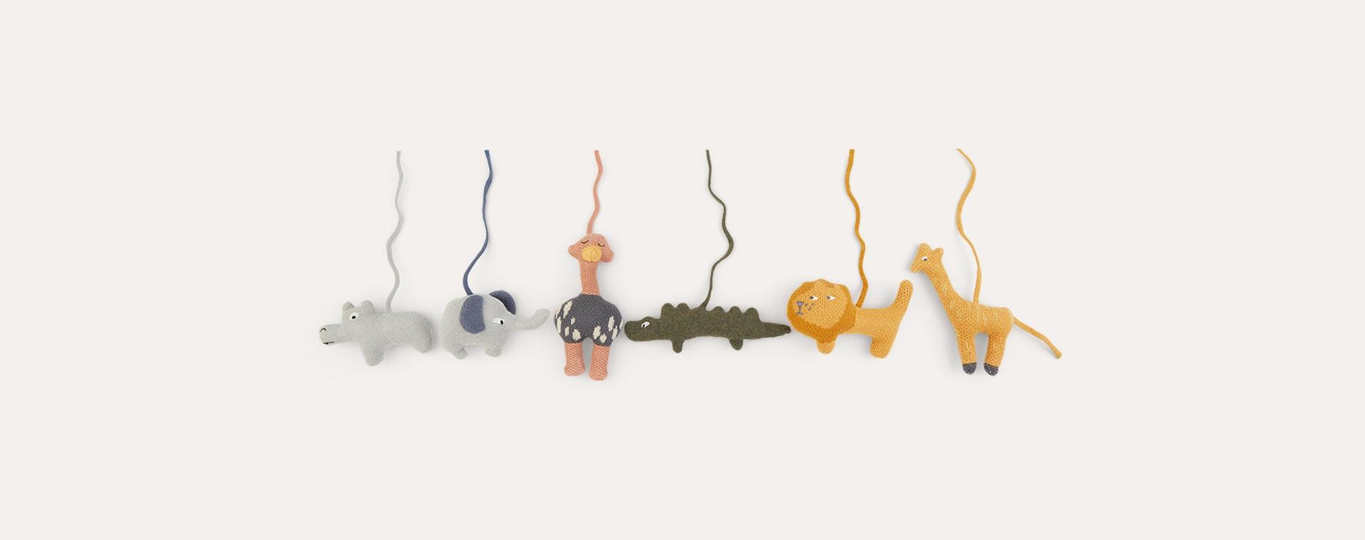 Safari mix Liewood Helmut Playgym Accessories - 6 pack