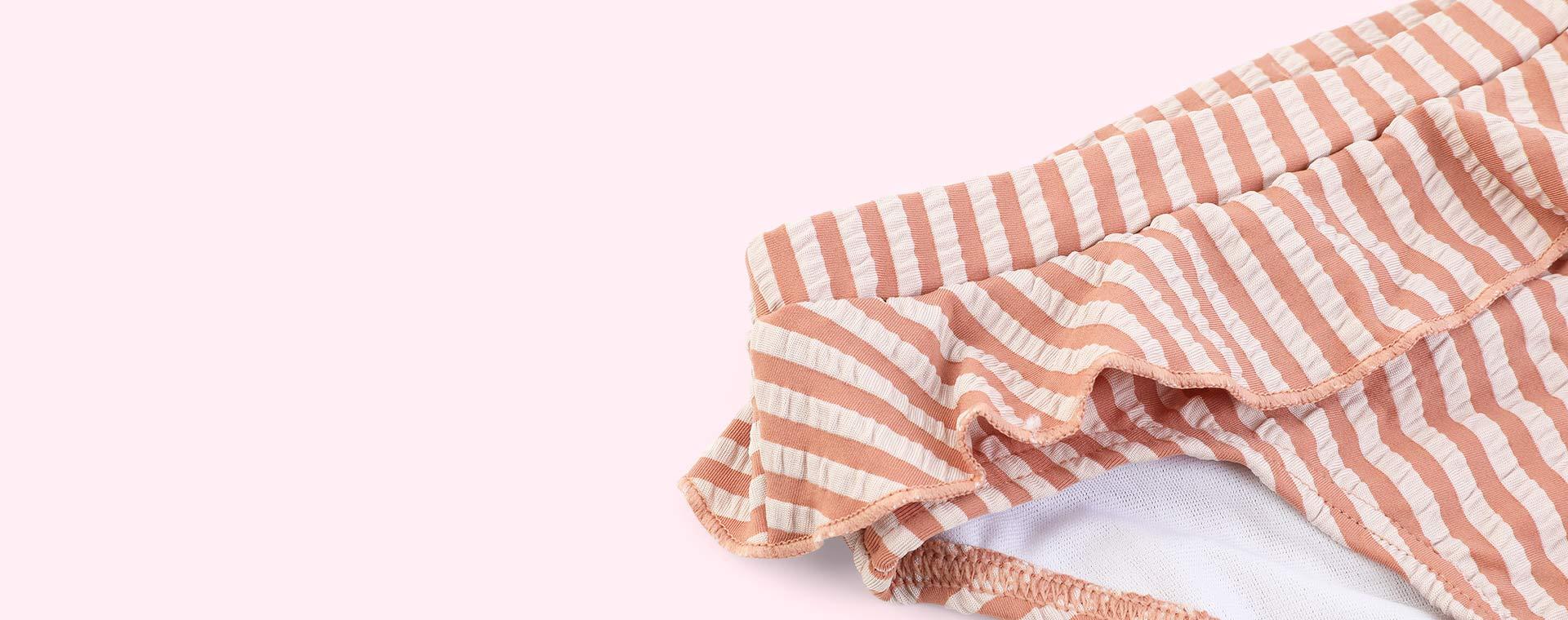 stripe: Tuscany rose/sandy Liewood Norma Bikini Set Seersucker