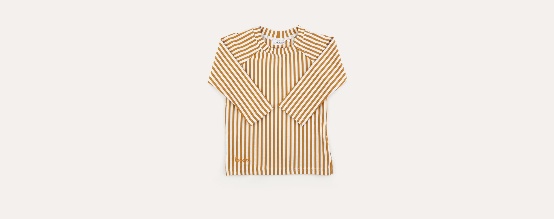 stripe: Mustard/white Liewood Noah Swim Tee Seersucker