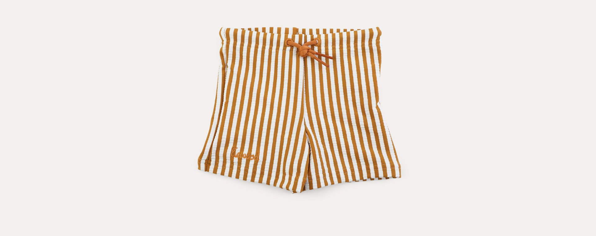 stripe: Mustard/white Liewood Otto Swim Pants Seersucker