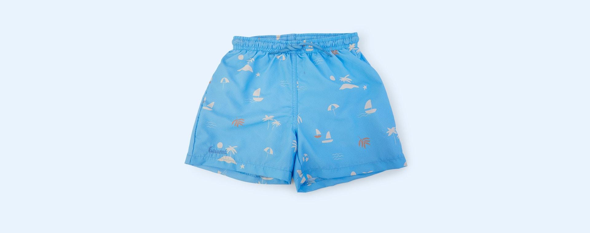 Seaside Sky Blue Liewood Duke Board Shorts