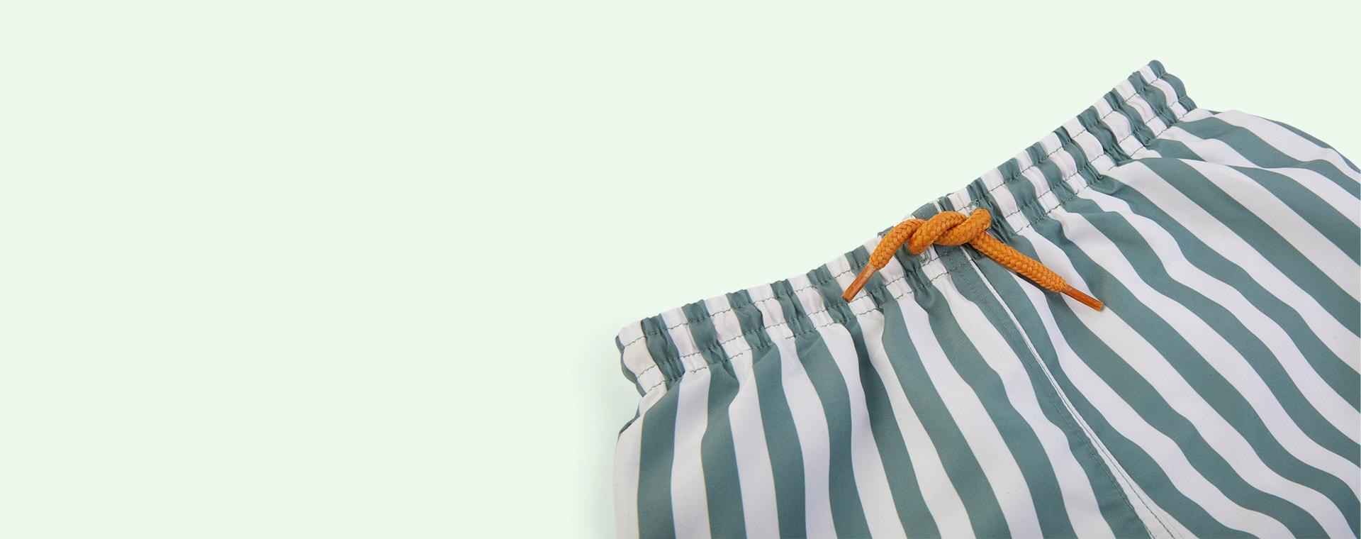 Stripe: Peppermint/white Liewood Duke Board Shorts