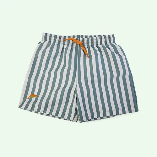 Stripe: Peppermint/white Liewood Duke Board Shorts