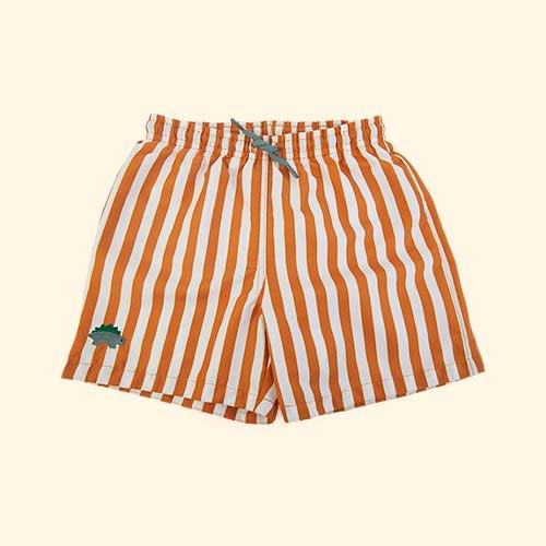 Stripe: Mustard/white Liewood Duke Board Shorts