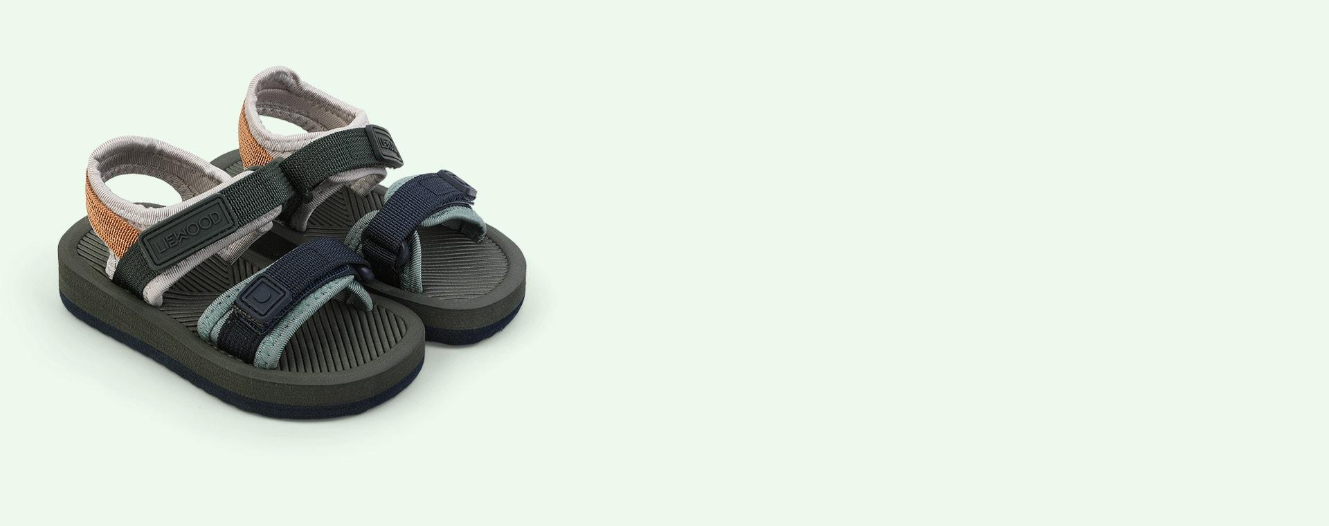 Hunter green mix Liewood Monty sandals