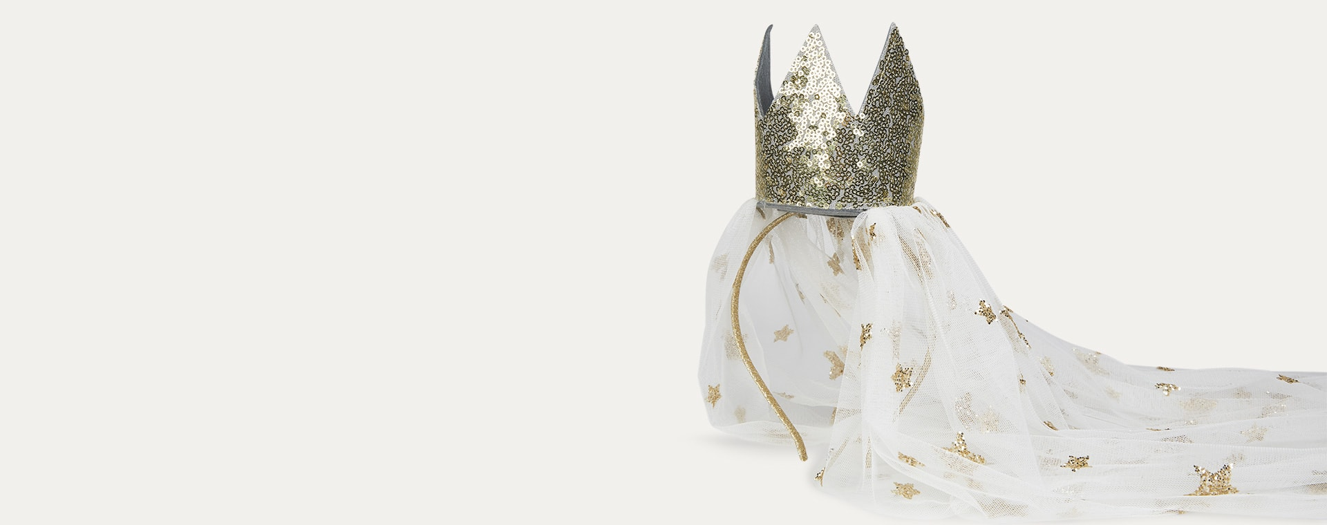 Gold Mimi & Lula Gold Crown With Veil