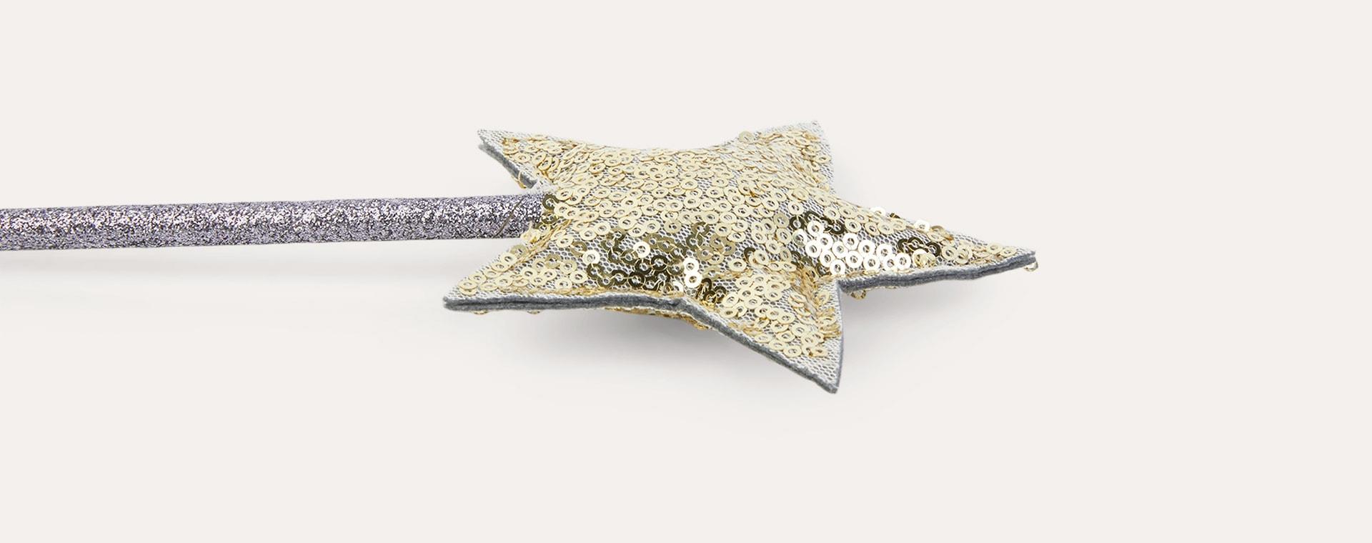 Gold Mimi & Lula Glitter Star Wand