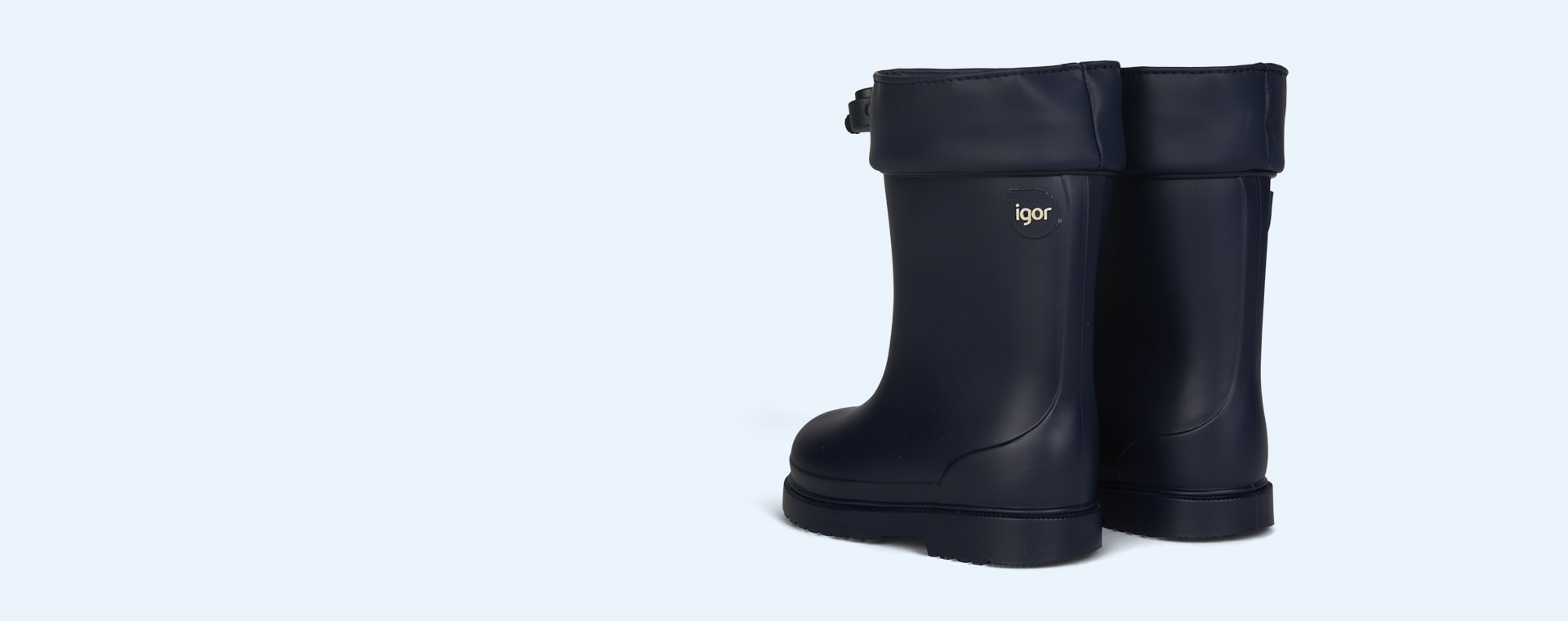 Navy igor Chuffo Cuello Lined Rain Boot