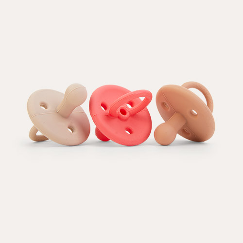 Apple Red Multi Mix Liewood 3-Pack Paula Pacifier