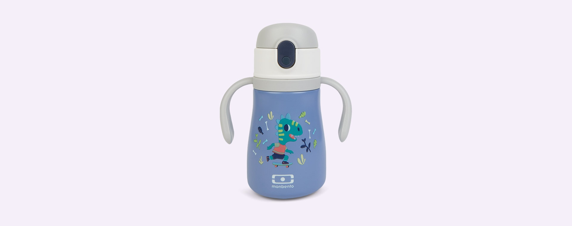 Blue Dino monbento Stram Insulated Kids Bottle