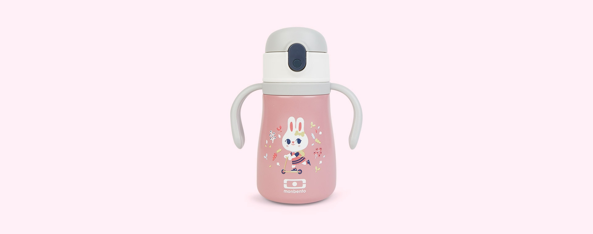 Pink Bunny monbento Stram Insulated Kids Bottle