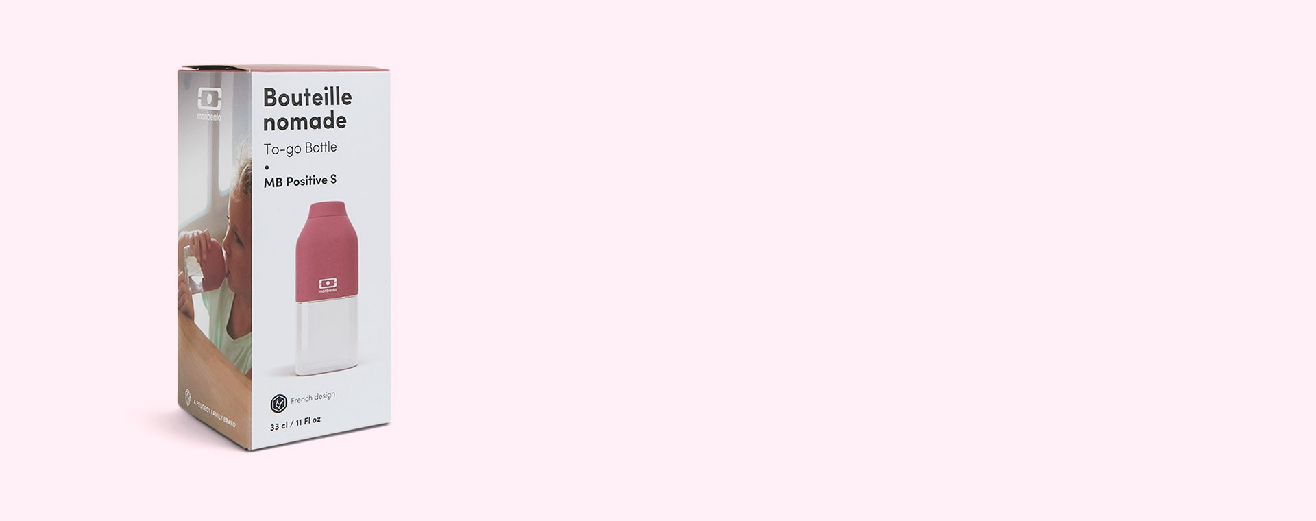 Pink Blush monbento Positive 330ml Bottle