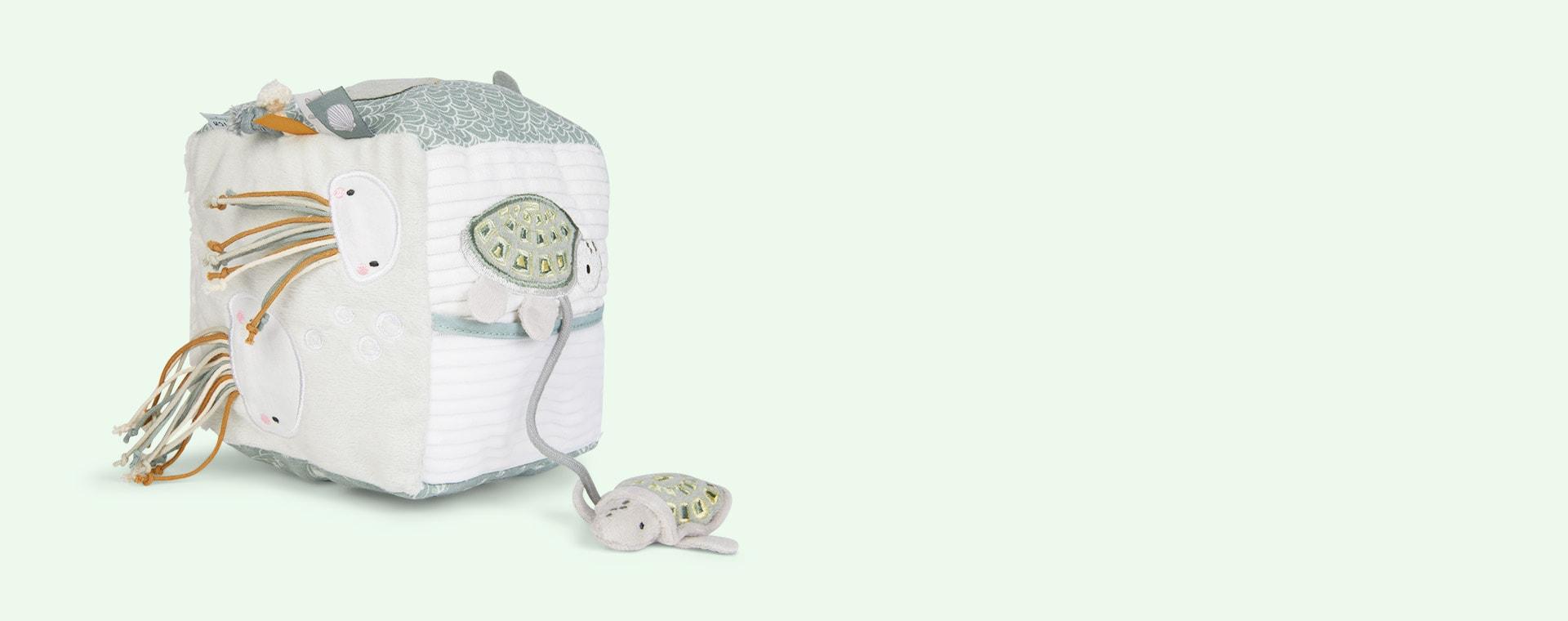 Ocean Mint Little Dutch Soft Activity Cube
