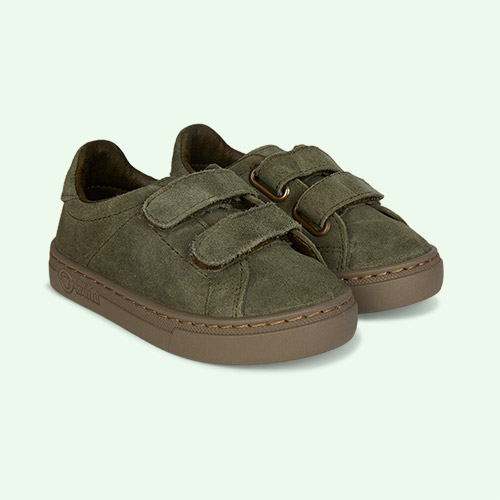 Light Khaki Natural World Velcro Suede Trainer