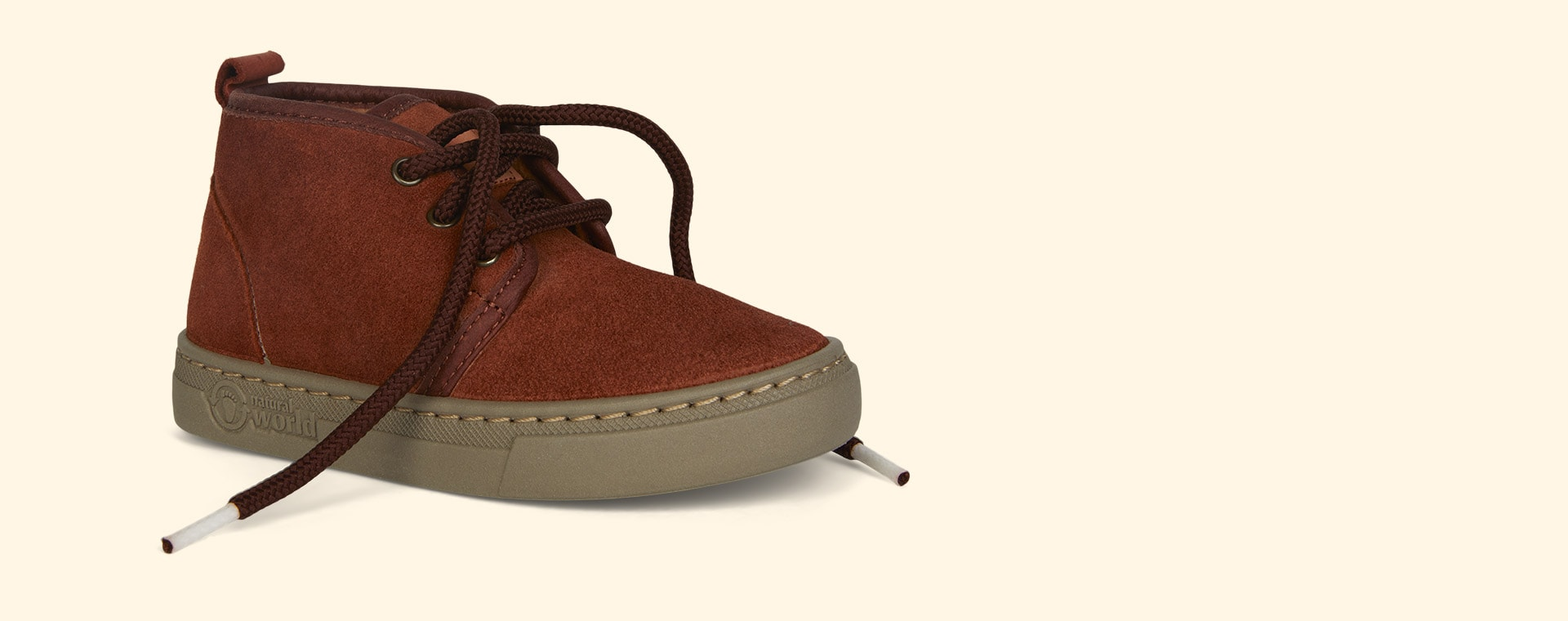 Orange Natural World Lace-Up Suede Boot