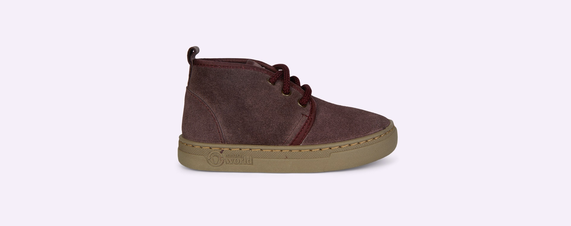 Purple Natural World Lace-Up Suede Boot