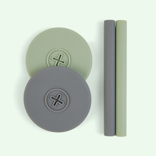 Sage Green/ Slate Grey Cognikids Sip Accessory Pack
