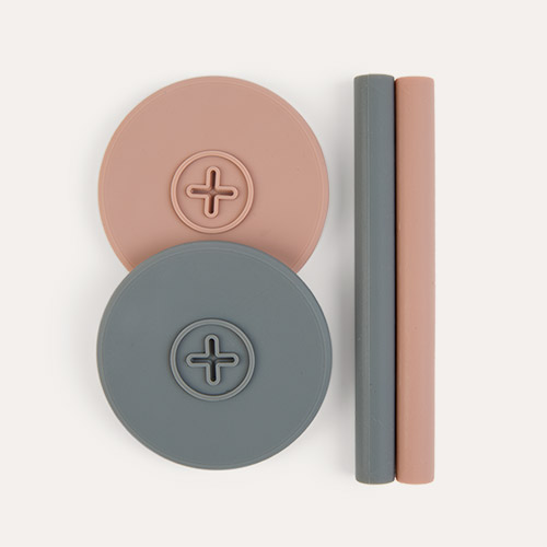 Blush Pink/ Slate Grey Cognikids Sip Accessory Pack
