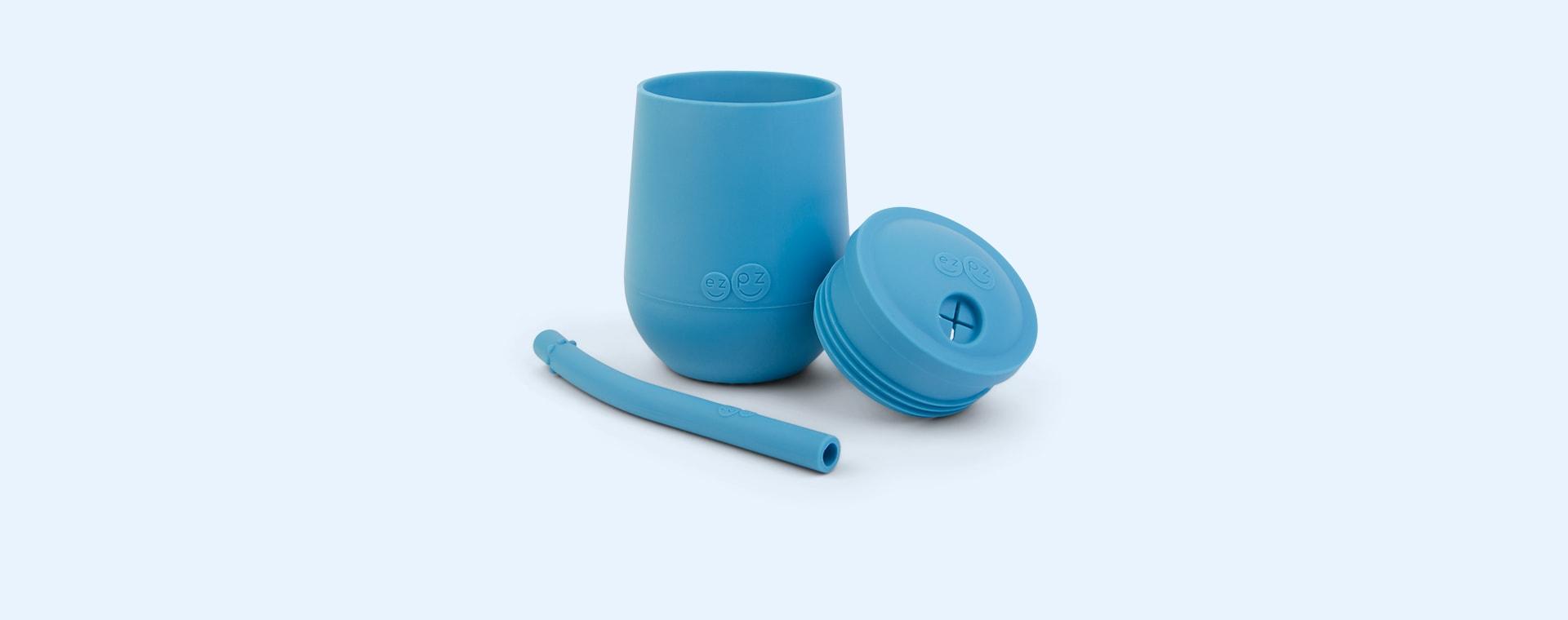 Blue EZPZ Mini Cup + Straw