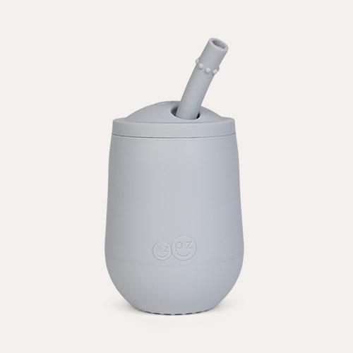 Pewter EZPZ Mini Cup + Straw
