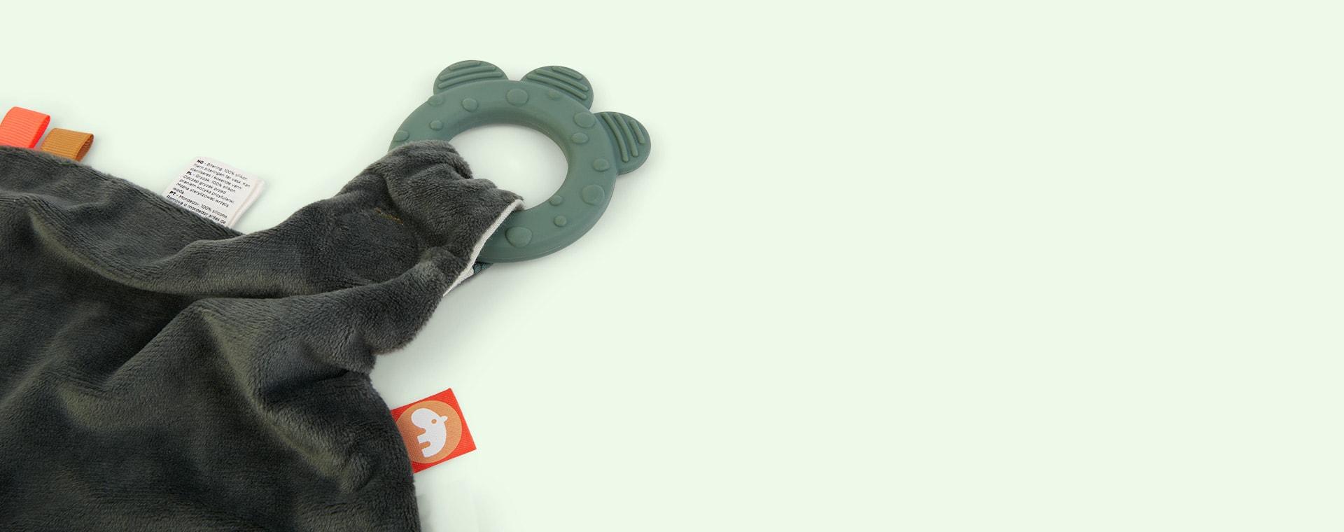 Green Done By Deer Comfort Croco Teether