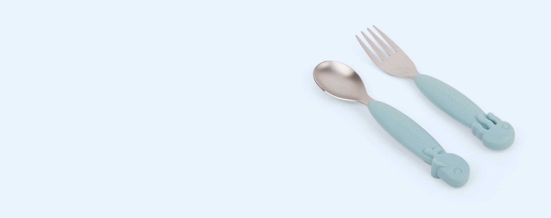 Blue Done By Deer Yummy+ Spoon & Fork