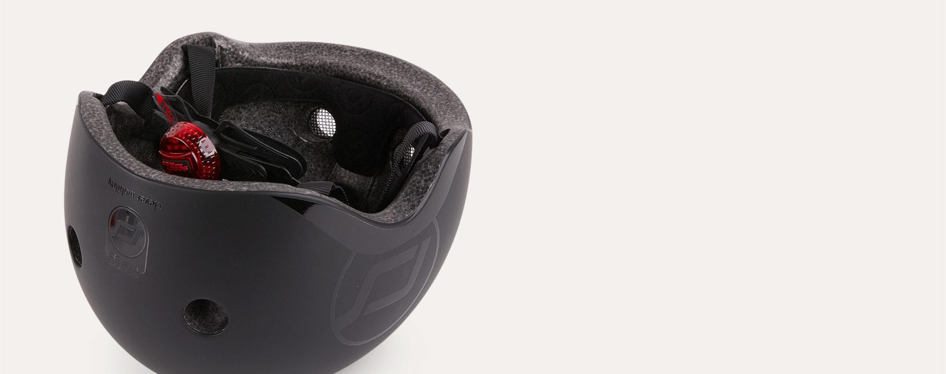Black Scoot & Ride Highway Kick 3 LED Helmet