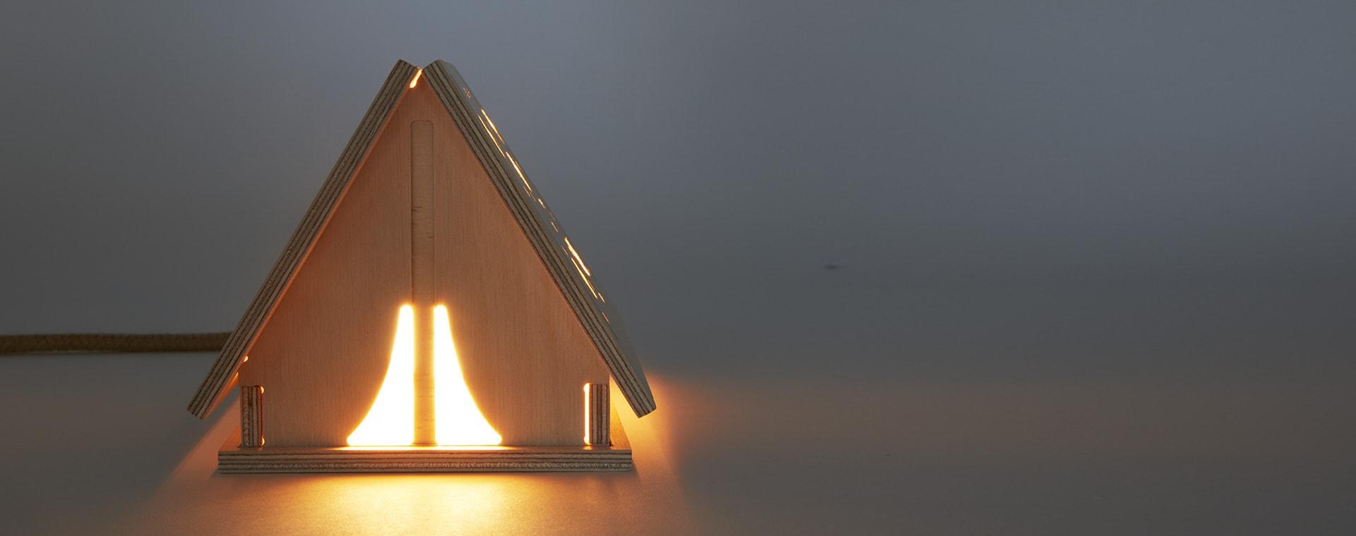 Neutral Bright Corner Star Tent Light