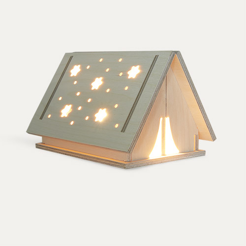 Neutral Bright Corner Star Tent Light