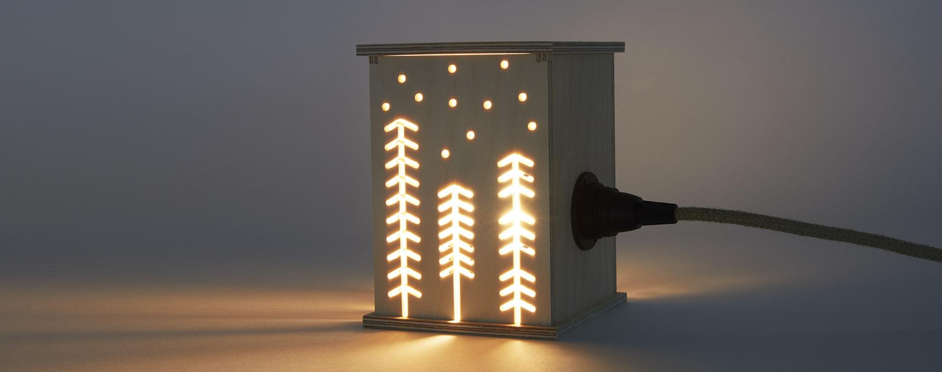 Neutral Bright Corner Woodland Light