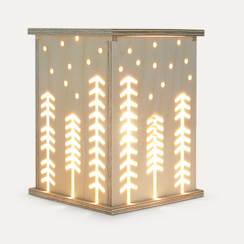 Neutral Bright Corner Woodland Light