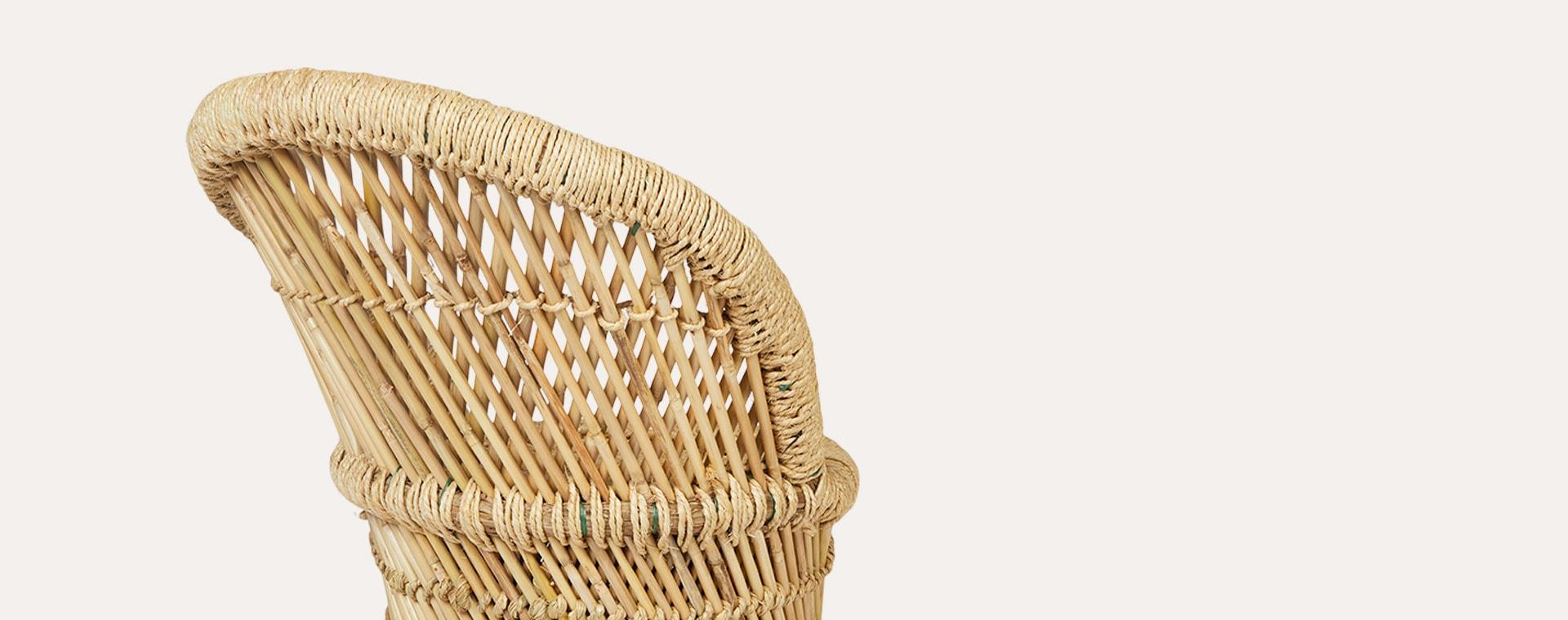 Neutral Bloomingville Mini Bamboo Chair