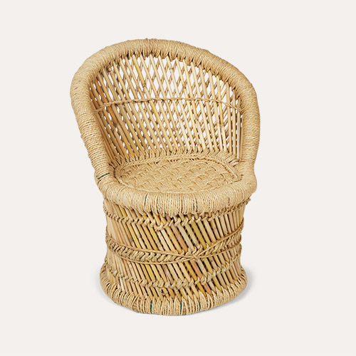 Neutral Bloomingville Mini Bamboo Chair
