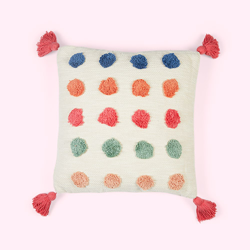Multi Bloomingville Multi Colour Dot Cushion