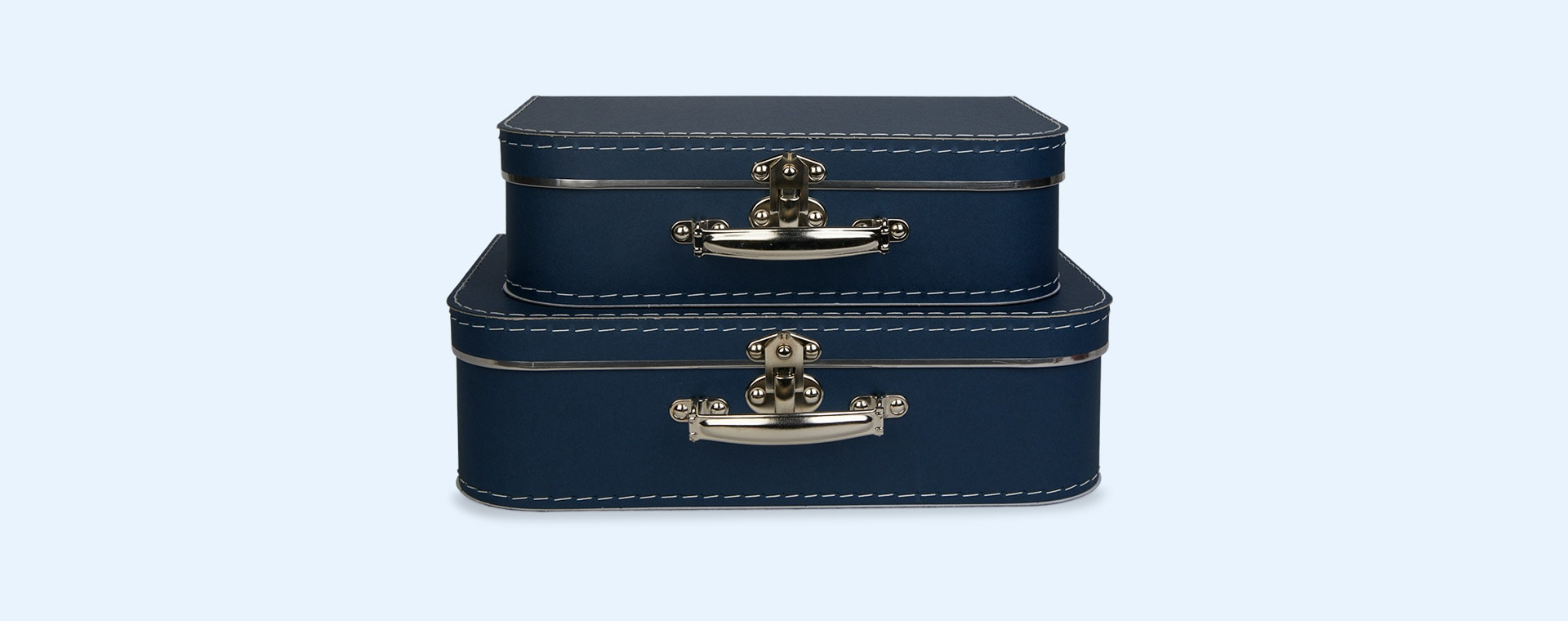 Blue Kid's Concept Paper Suitcase 2 Pack Set