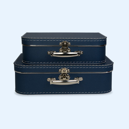 Blue Kid's Concept Paper Suitcase Set of 2