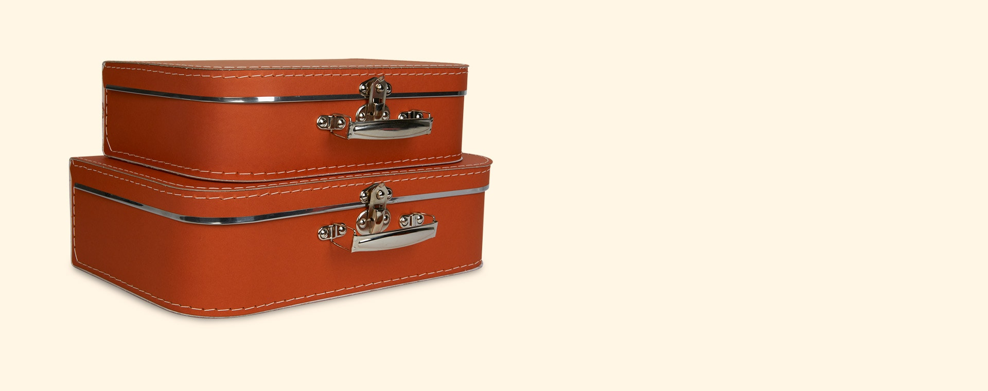 Rust Kid's Concept Paper Suitcase 2 Pack Set